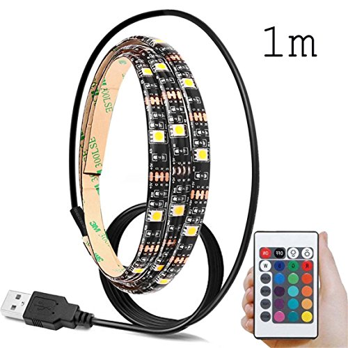 Lighting Kit+USB Remote Control, SFE 5V 5050 60SMD/M RGB LED Strip Light Bar TV Lights Strip (5V RGB)