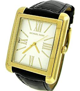 amazoncom new michael kors womens black leather watch