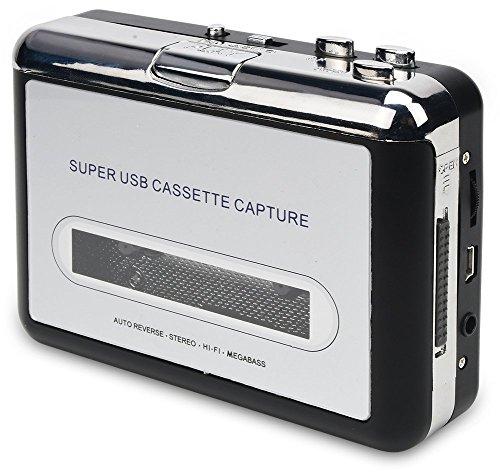 DIGITNOW Cassette Player-Cassette Tape To MP3 CD Converter Via USB,Portable Cassette Tape Converter Captures MP3 Audio Music,Convert Walkman Tape Cassette To MP3 Format, Compatible With Laptop and PC - Convert Cassette Tapes To Cd
