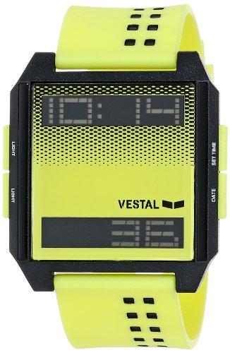 Vestal Unisex DIG026 Digichord Fluorescent Yellow and Black Watch