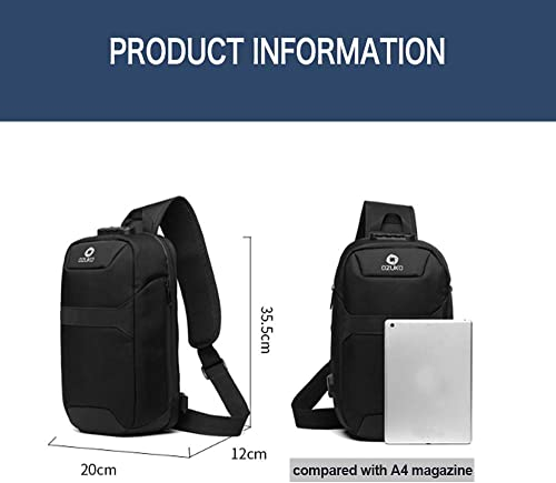 OZUKO Sling Bag Shoulder Chest Crossbody Bags Lightweight Waterproof Chest Backpack