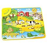Happy Cherry Cotton Farm Waterproof Music Carpet Toy Baby's Educational Mat Blanket