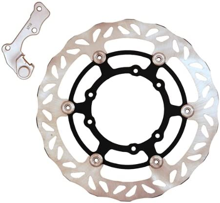 Outlaw Racing S270978 270mm Oversize Front Brake Disc Kit Rotor With Bracket Yamaha YZ125 YZ250 YZ250F YZ450F