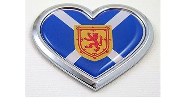 Car Chrome Decals CBHRT228 USA HEART Flag Chrome Emblem Car Decal 3D Sticker