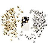 Best Price Set of 250 5mm Silver And Golden Star Metal Studs Manicure