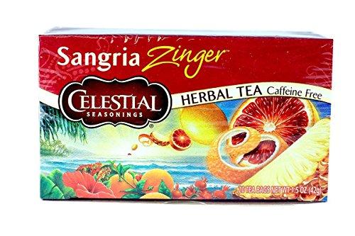Celestial Herbal Tea Sangria Zinger Bags, 20 Count Review