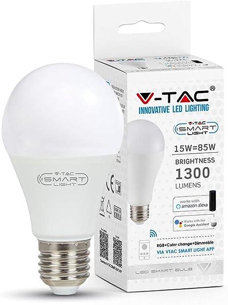 Smart Home RGB LED 10W E27 Google Alexa Leuchtmittel Lampe App Sprach Steuerung