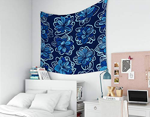 - Wall-Hanging-Tapestry,EMMTEEY tapestries Décor Living Room Bedroom for Home Inhouse By Printed 60x50 Inches for Vintage multicolored floral vector wedding invitation with abstract poppies and leafs bo