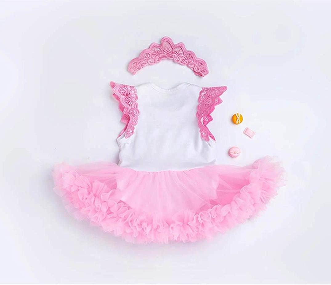 LNGRY Toddler Girls Valentines Day Party Princess Bubble Dress Headband Sets
