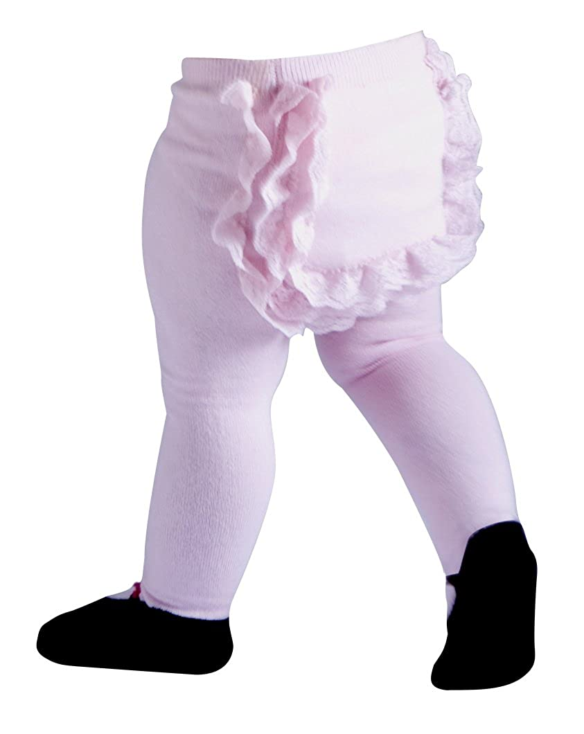 Jazzy Toes Mary Jane Lacy Baby Tights Pink