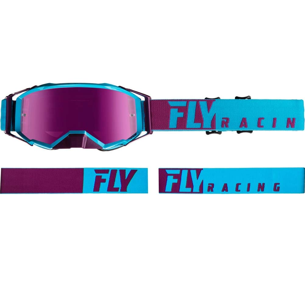 Fly Racing Zone Pro Goggle Purple/Light Blue W/Pink Mirror Lens