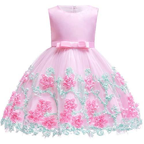 Summer Dress Flower Girls Dress Party Wedding Dress Elegant Princess Vestidos,As Picture7,4T -