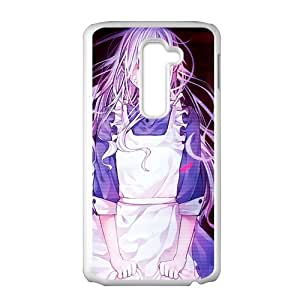 Cartoon Maid White Phone Case for LG G2