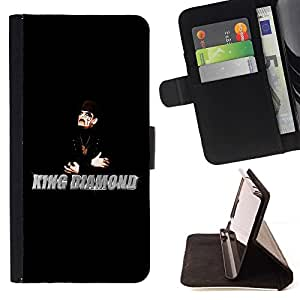 DEVIL CASE - FOR Apple Iphone 6 PLUS 5.5 - King Diamong - Style PU Leather Case Wallet Flip Stand Flap Closure Cover