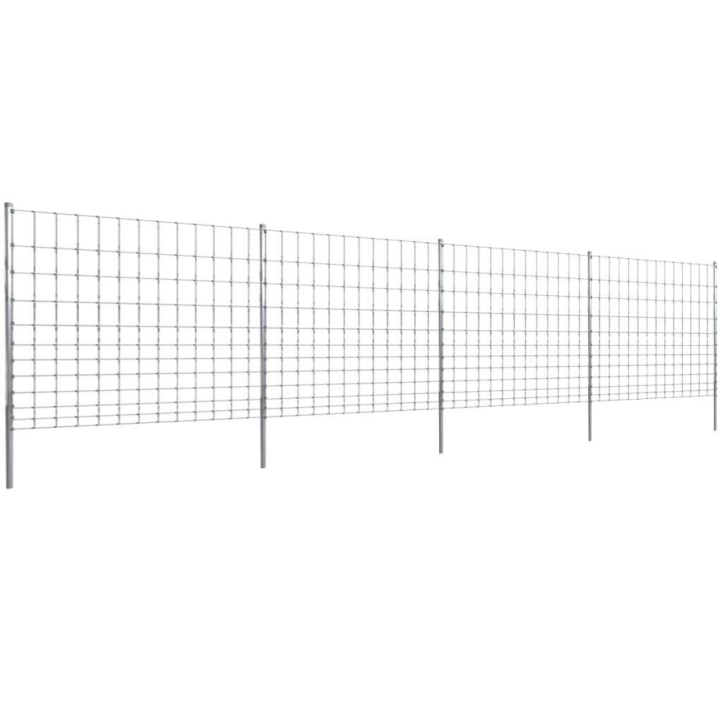 mewmewcat Valla con Postes de Hierro Recubierto de Zinc 50 m 150//12//30