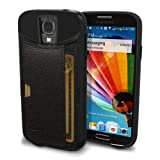 Galaxy S4 Wallet Case - Q Card Case for Samsung Galaxy S4 by CM4 - Ultra Slim Protective Credit Card Carrying Case (Black Onyx)