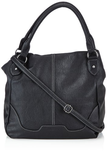 Tamaris LENA Shopper 1005999-001 Damen Shopper 36x32x15 cm (B x H x T), Schwarz (black)