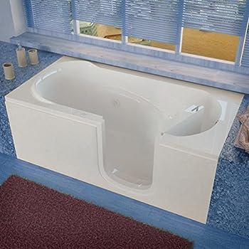 Spa World Venzi Vz3060sirwh Rectangular Whirlpool Walk In Bathtub, 30x60,  Right Drain, White