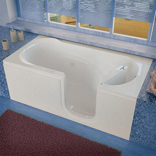 Spa World Venzi Vz3060sirwh Rectangular Whirlpool Walk-In Bathtub,...