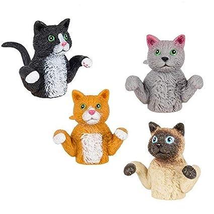 Amazon.com: Juego de gatos de dedo de 4 marionetas (bulk ...