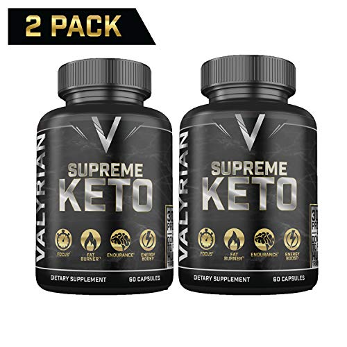 2 Pack Supreme Keto Pills from Shark Tank – Best Keto Pills – Weight Loss Supplement to Burn Fat – Boost Energy – Metabolism – Best Ketosis Supplement for Women and Men – Best Keto Diet – 60 Capsules
