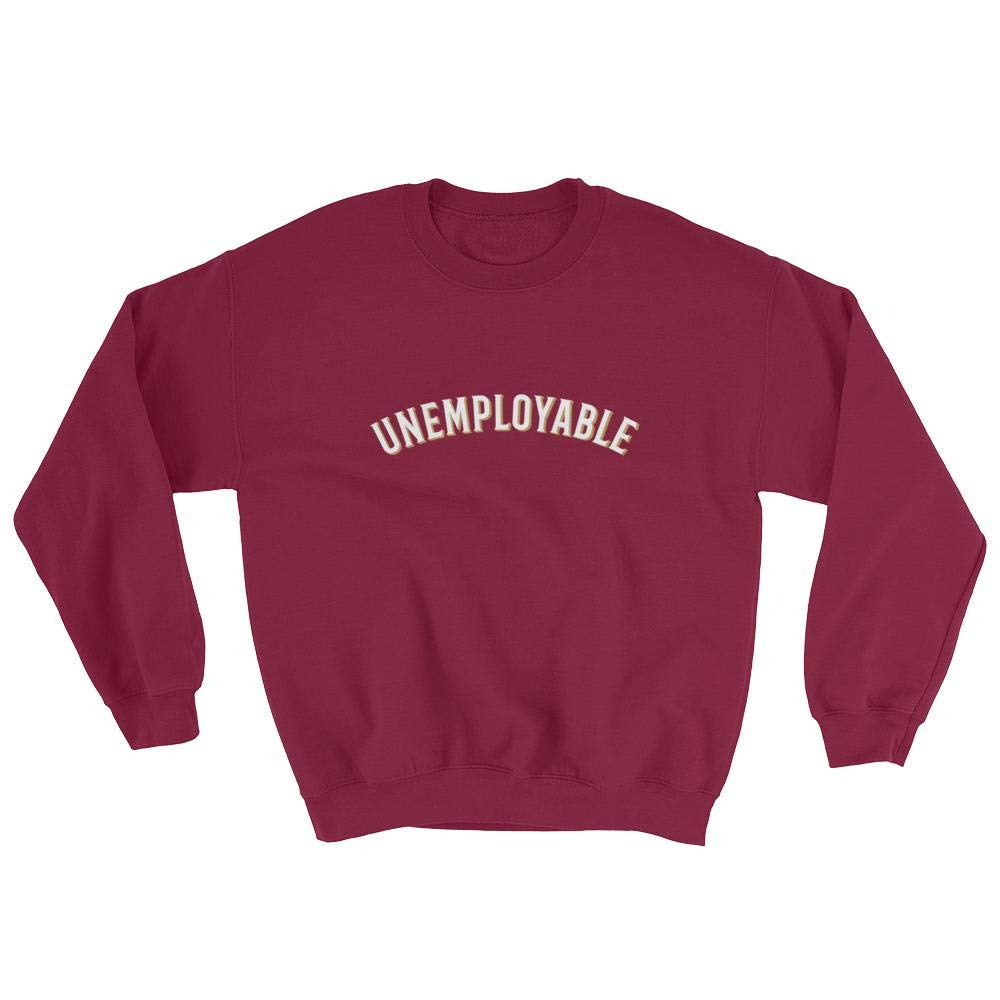 Unemployable Unisex Sweatshirt Cryptocurrency Wear Brand When Lambo?