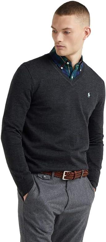 Polo Ralph Lauren Jersey de algodón V-Neck: Amazon.es: Ropa y ...