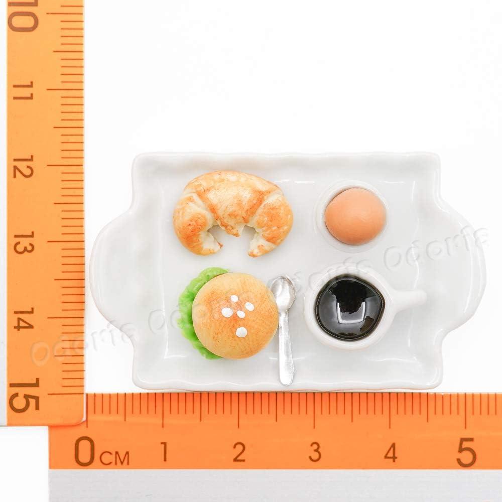 Odoria 1//12 Miniature Croissant Burger caf/é Brunch Cuisine de Maison de Poup/ées