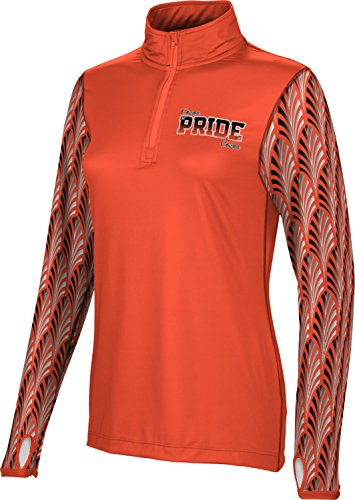 ProSphere Women's Cocoa High School Deco Half Zip Long Sleeve (Apparel) (Small) - Deco Cocoa