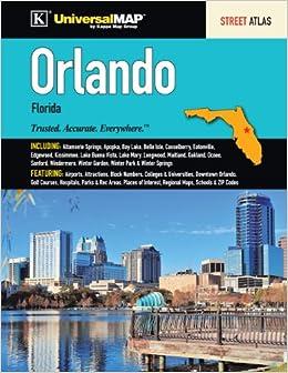 Map Of Orlando Florida Area.Orlando Fl Street Atlas Kappa Map Group 9780762585069 Amazon Com