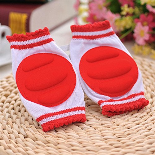 [Red Baby Leg Warmers Pads Cotton Baby Greave Safety Crawling Elbow Cushion Toddlers Knee Protector Baby knee Pads] (70s Punk Costumes)