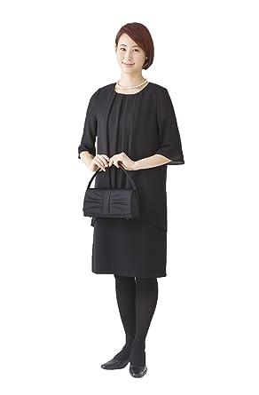 8b2e142b88c9f (モノワール) MONOIR 喪服 レディース 礼服 夏 夏用 大きいサイズ ブラックフォーマル ワンピース 02P22255