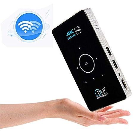 UK Plug Alextry Mini 4K HD Proiettore 1080P con Bluetooth WiFi Android 5.1 Smart DLP Proiettori