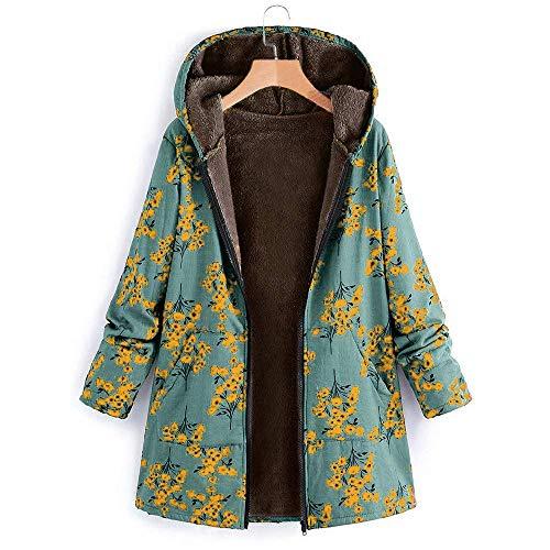 Caldo Verde Modello Lunga Tasca Donna Inverno Manica Cappotto Allentato Soprabito Zhrui Da Moda Cappuccio 1 Vintage Antivento Outcoat A Giacca Con Bottoni RzRqOwa