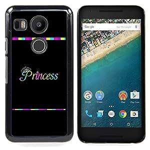 - Princess Rainbow Black Text Minimalist - - Monedero pared Design Premium cuero del tir???¡¯???€????€??????????&fnof