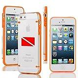 Apple iPhone 6 Plus / 6s Plus Transparent Clear Hard TPU Case Cover Dive Flag Diver Scuba Diving (Orange)