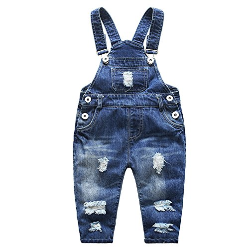 Ding Dong Baby Toddler Boy Girl Denim Overalls(Style 1,5T) by Ding Dong (Image #1)