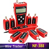 Noyafa NF-388 Network coax cable tester Handheld Cable Tester Network cable Ethernet Wire tester Telephone cable Tester Audio Cable (not include battery)