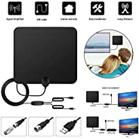 TV Antenna 50 Miles Range TV Antenna 4K Amplified Digital with 13 Foot Coax Cable - HDTV Amplifier Support 4K 1080P