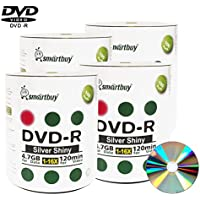 Smart Buy 400 Pack Dvd-r 4.7gb 16x Shiny Silver Blank Data Video Movie Recordable Media Disc, 400 Disc 400pk
