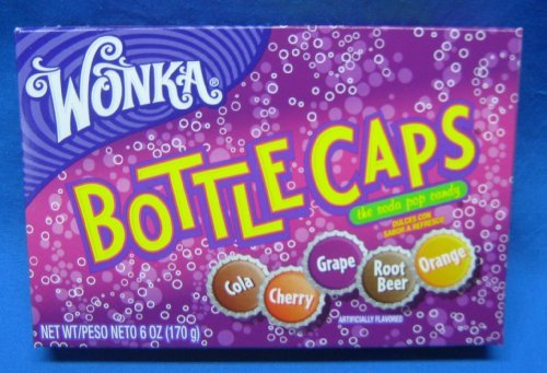 Wonka Bottle Cap Candy Theater Box Size 4 Boxes