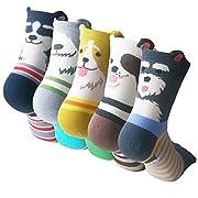 #LightningDeal 93% claimed: Womens Cute Animal Socks, Fun and Cool 100% Cotton Art Socks, One Size, (Shoe size:US 5-8.5)