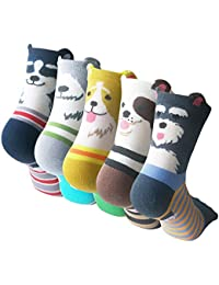 Womens Cute Animal Painting Socks, Funny and Cool 100%...