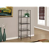 70H COPPER METAL ETAGERE BOOKCASE