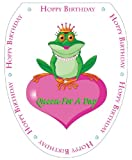 Toilet Tattoos TT-0002-O Queen For A Day Decorative Applique For Toilet Lid, Elongated