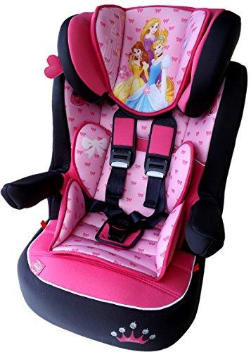DISNEY I MAX Kindersitz KINDER AUTOSITZ BABY SITZ GRUPPE 1/2/3 -9-36kg PRINCESS *ADAC
