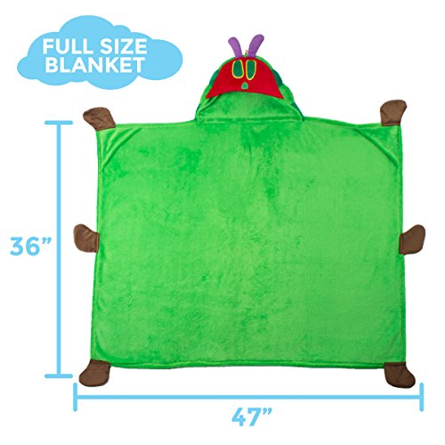 Comfy Critters Stuffed Animal Blanket – The World of Eric Carle, The Very Hungry Caterpillar – Kids huggable pillow and blanket perfect for pretend play, travel, nap time. by Comfy Critters (Image #5)