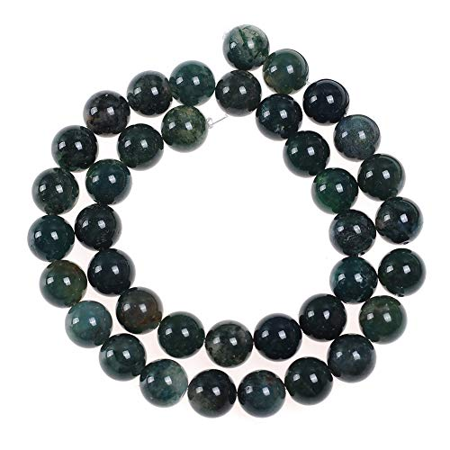 95pcs 4mm Moss Agate Beads for Jewelry Making Adult Bracelets Necklace Natural Stone Round Beads for Handmade Jewellry (Agate Moss Yellow)