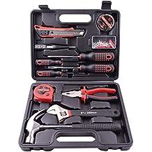 [Patrocinado] 13 Pieces Home Repair Household Tool Set Tools Kit Storage Plastic Toolbox