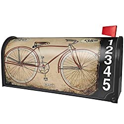 NEONBLOND Bicycle Classic, Vintage Magnetic Mailbox Cover Custom Numbers